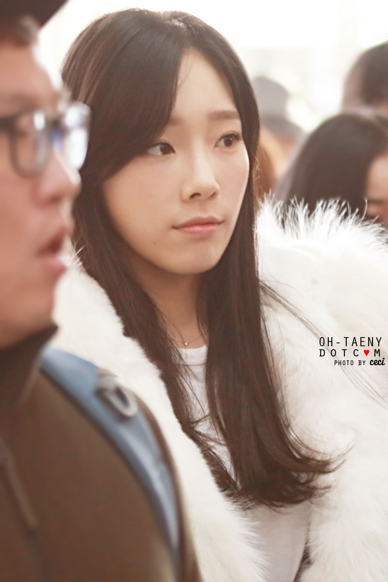 SNSD Taeyeon Incheon 150103 airport fashion