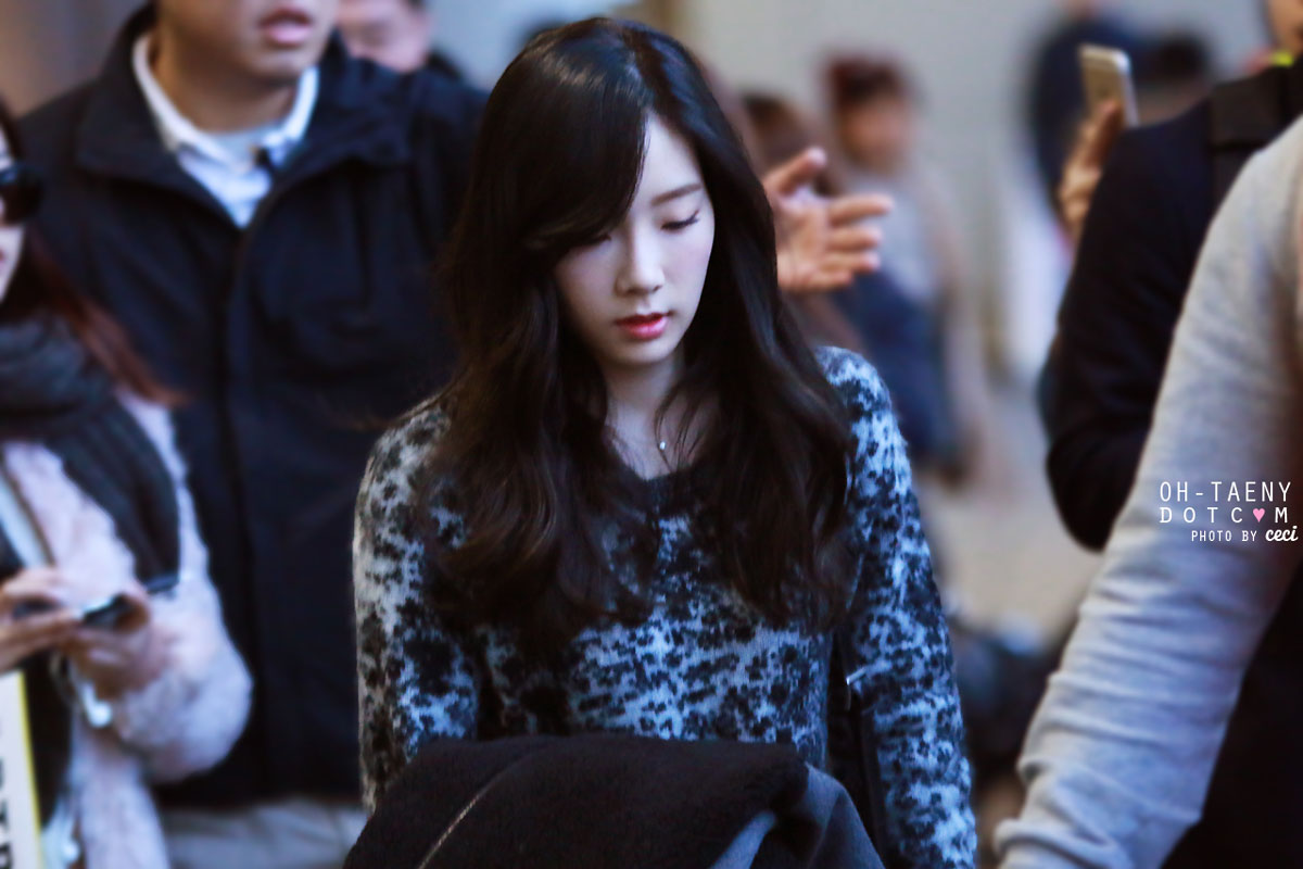 SNSD Taeyeon Incheon 150105 airport fashion