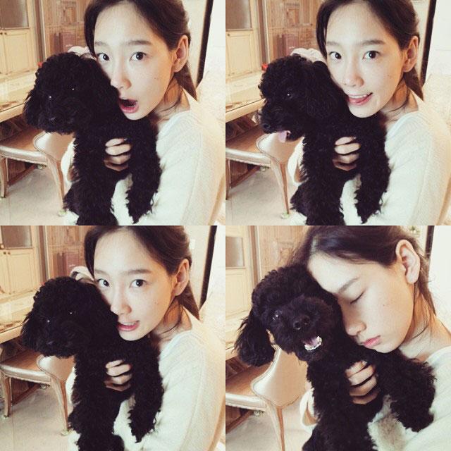SNSD Taeyeon Ginger Instagram selca