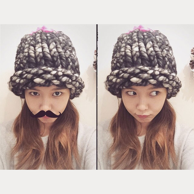 SNSD Sooyoung Instagram cute moustache