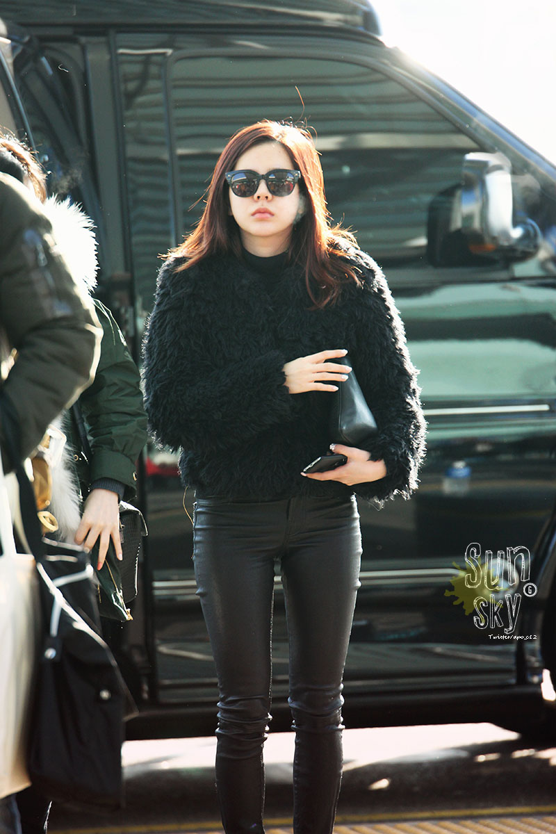 SNSD Sunny 150103 Incheon airport fashion