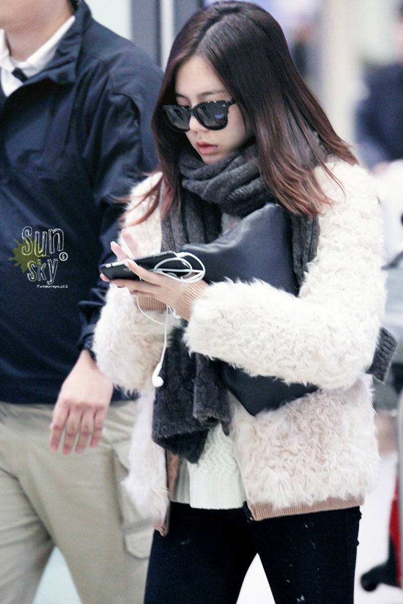 SNSD Sunny 150105 Incheon airport fashion