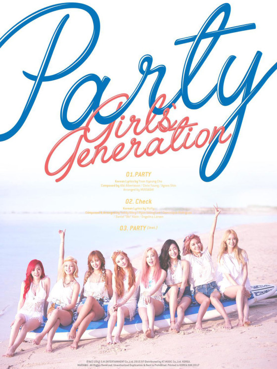 SNSD Party 2015 Korean single album